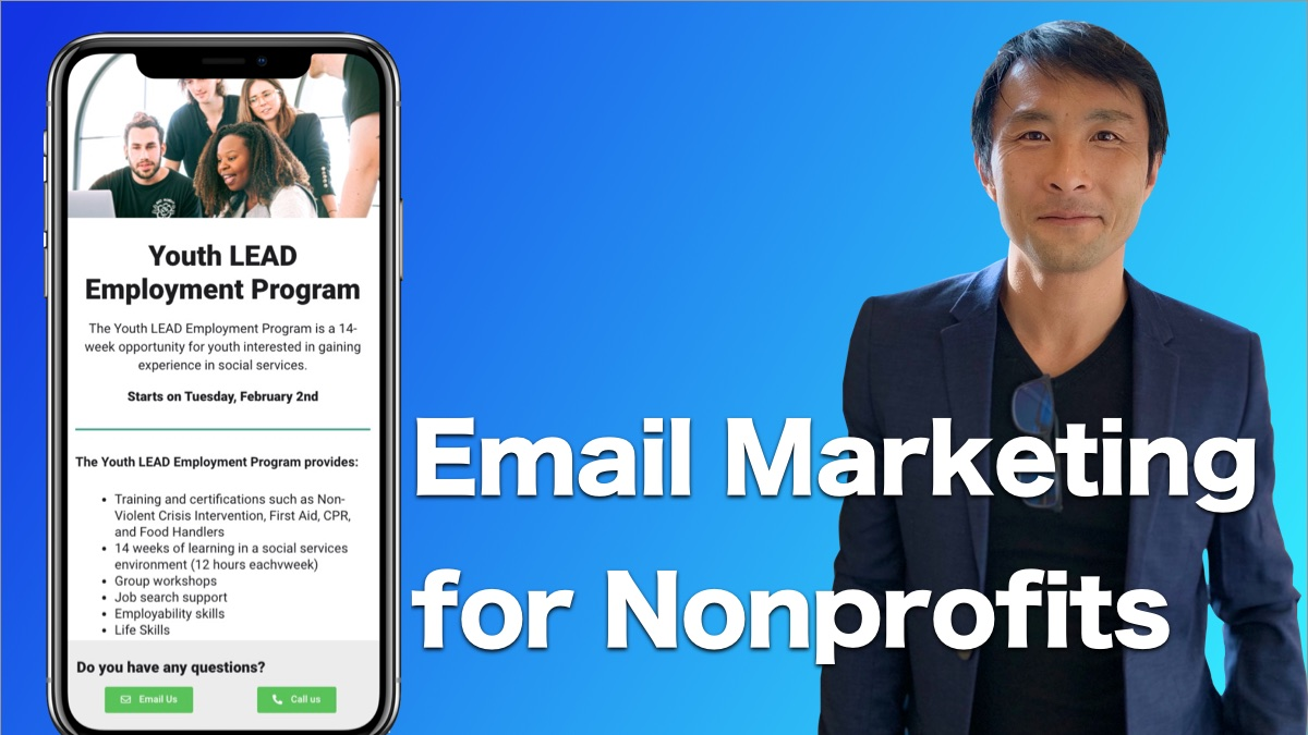 Email marketing for nonprofit cover